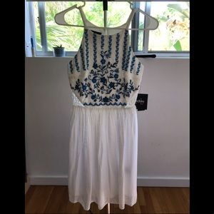 White and Blue Summer Dress